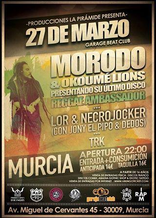 Morodo actuará en Murcia