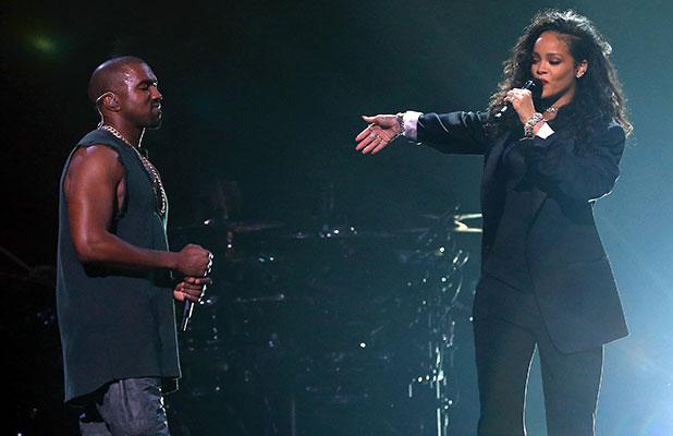 Rihanna y Kanye West, juntos en un escenario de Arizona