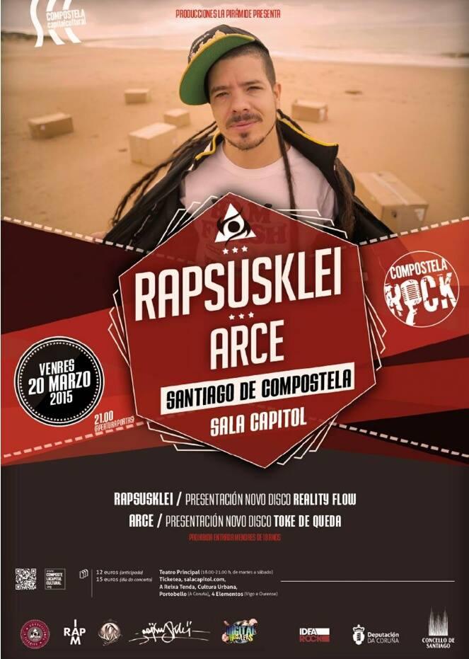 Rapsusklei y Arce juntos en Santiago De Compostela