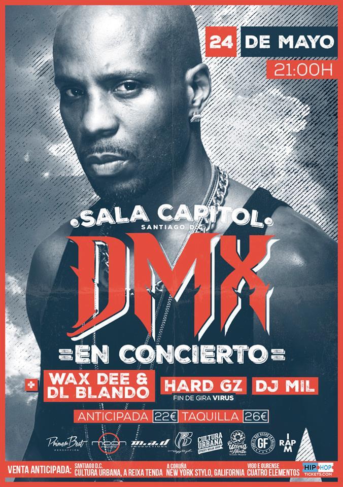 DMX estará en Santiago de Compostela