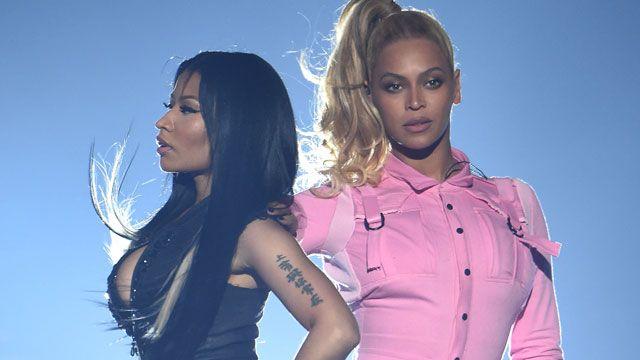 Beyonce y Nicki Minaj juntas en el escenario
