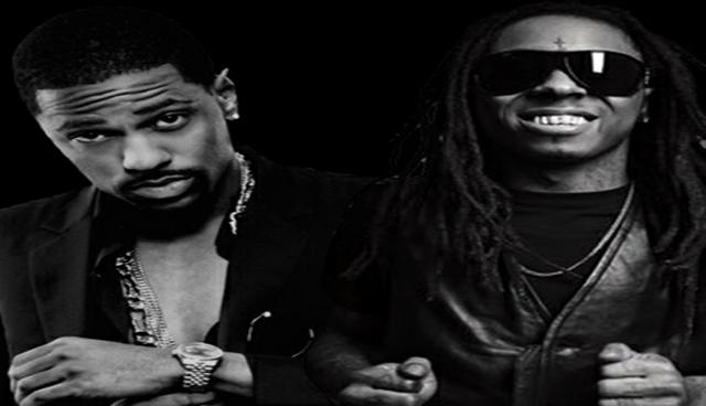 Big Sean en el escenario con Eminem y Lil Wayne