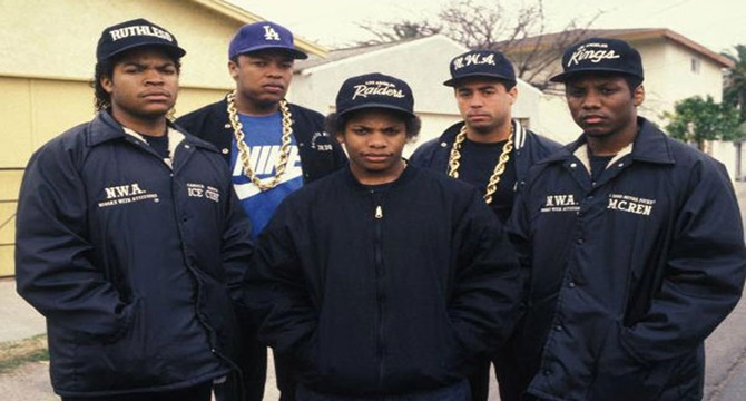 Directo de N.W.A, extraído del film «Straight Outta Compton»