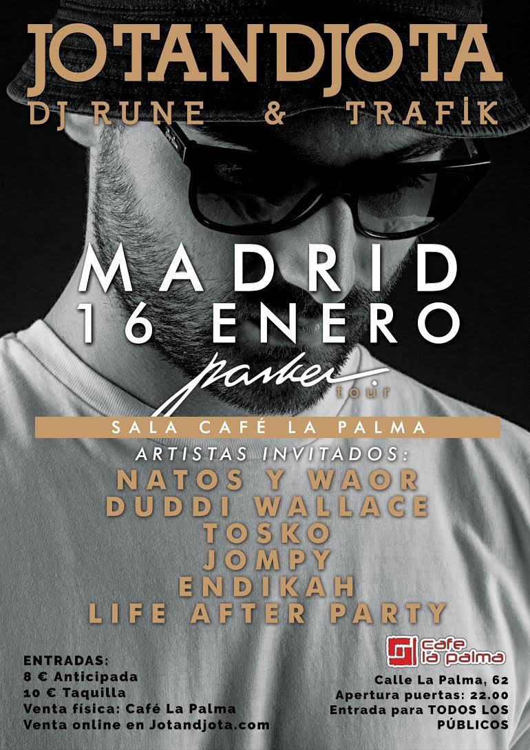 Concierto de Jotandjota, Dj Rune & Trafik en Madrid