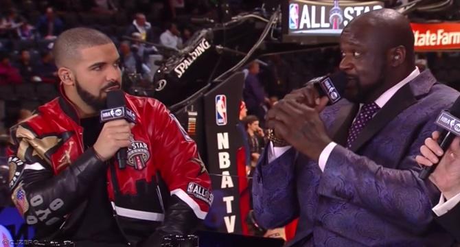 Drake rapea y Shaquille O´Neal al beatbox