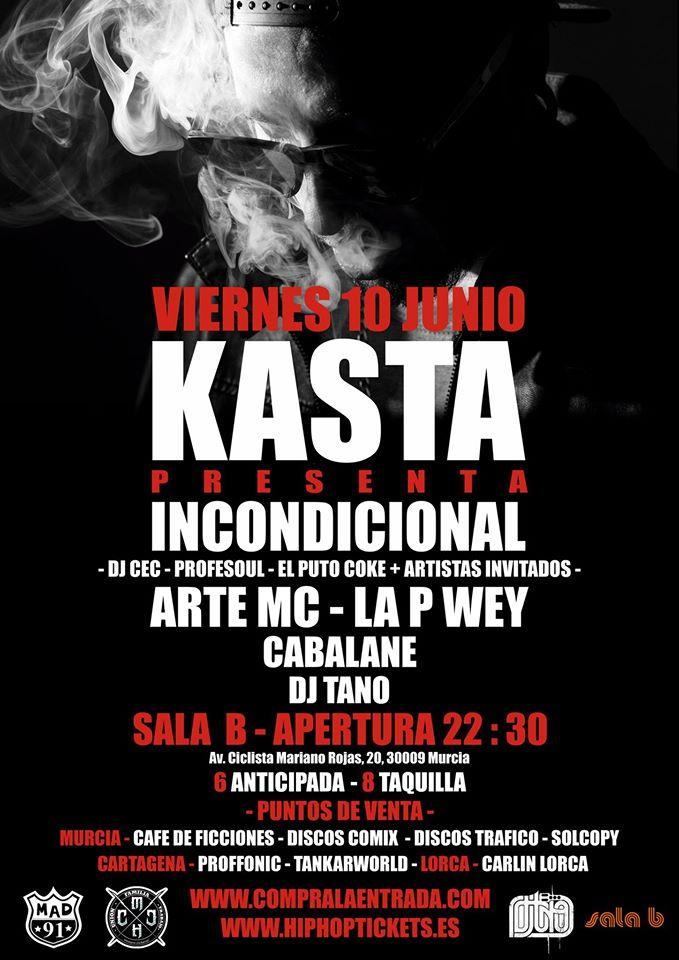 Kasta actuará en Murcia