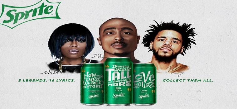 2Pac, Missy Elliott y J. Cole en las latas de Sprite