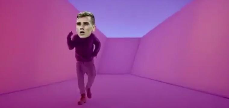 Griezmann celebra los goles a ritmo de Drake
