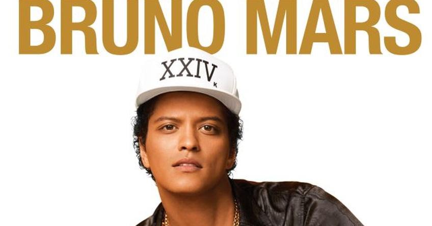 Bruno Mars estará de concierto en Barcelona y Madrid