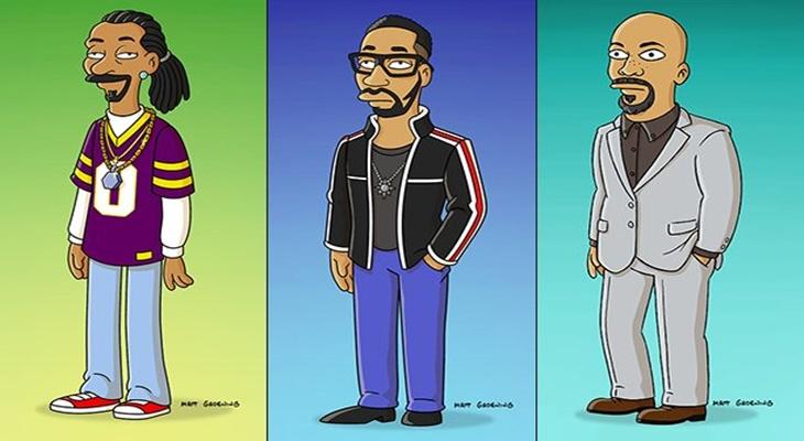 Snoop Dogg, RZA y Common saldrán en Los Simpsons
