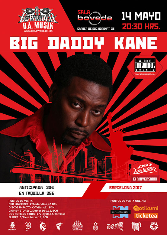 Big Daddy Kane en Barcelona
