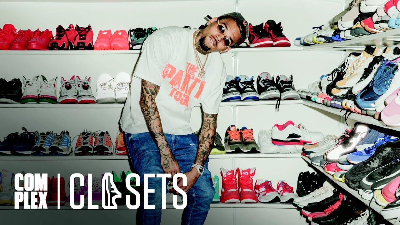 34d13e6fea89c Chris Brown nos muestra su colección de más de mil pares de zapatillas