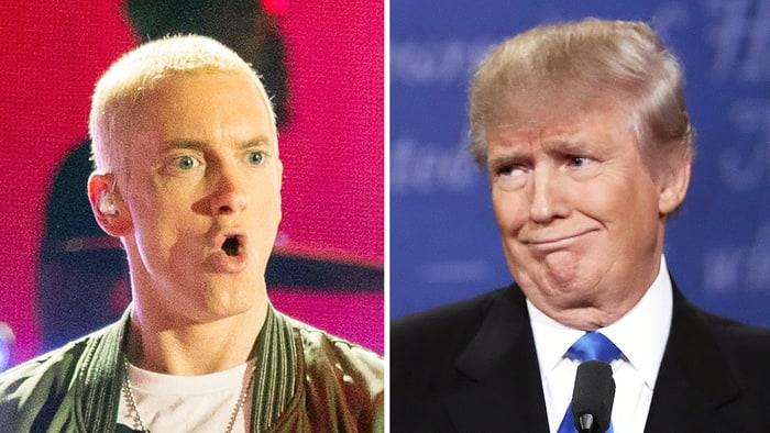 Eminem lanza duras palabras hacía Donald Trump en medio de un concierto