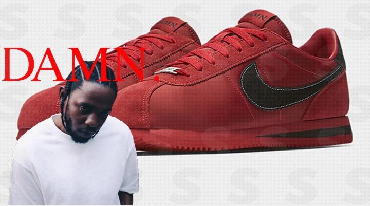 """Kendrick Lamar y Nike colaboran para sacar estas """"Cortez Damn"""""""