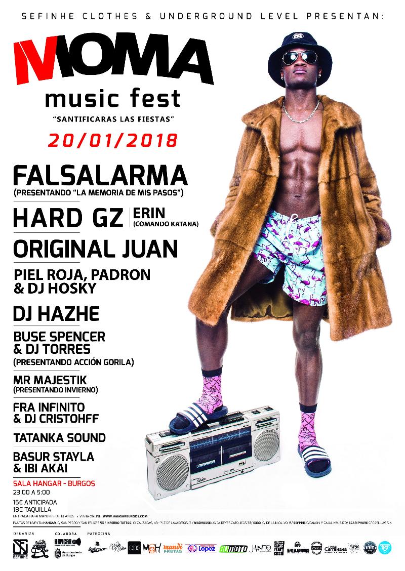 Cartel de lujo en el Moma Music Fest