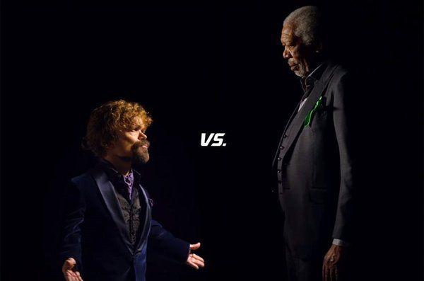 Disfrutad de la batalla de rap entre Morgan Freeman y Peter Ninklage