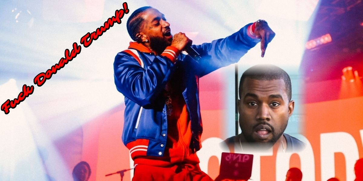 BEEF! Nipsey Hussle utiliza la imagen de Kanye West mientras rapea «FDT»