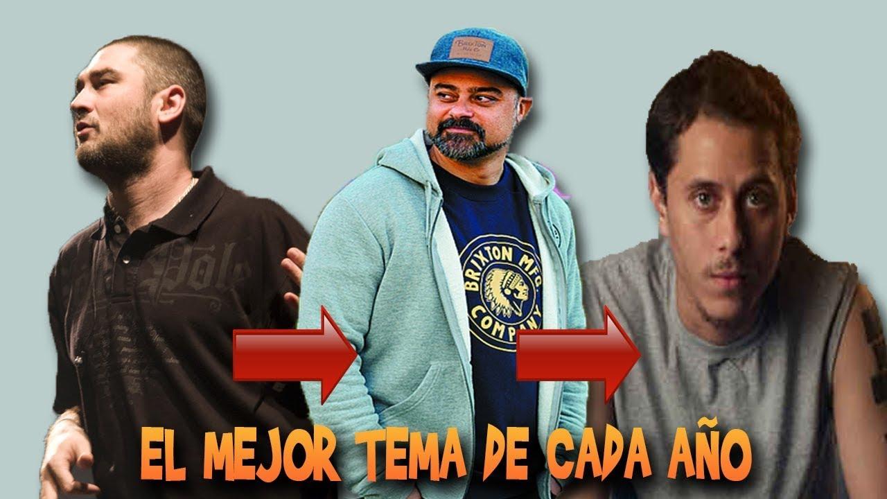 El mejor tema de rap en español de cada año