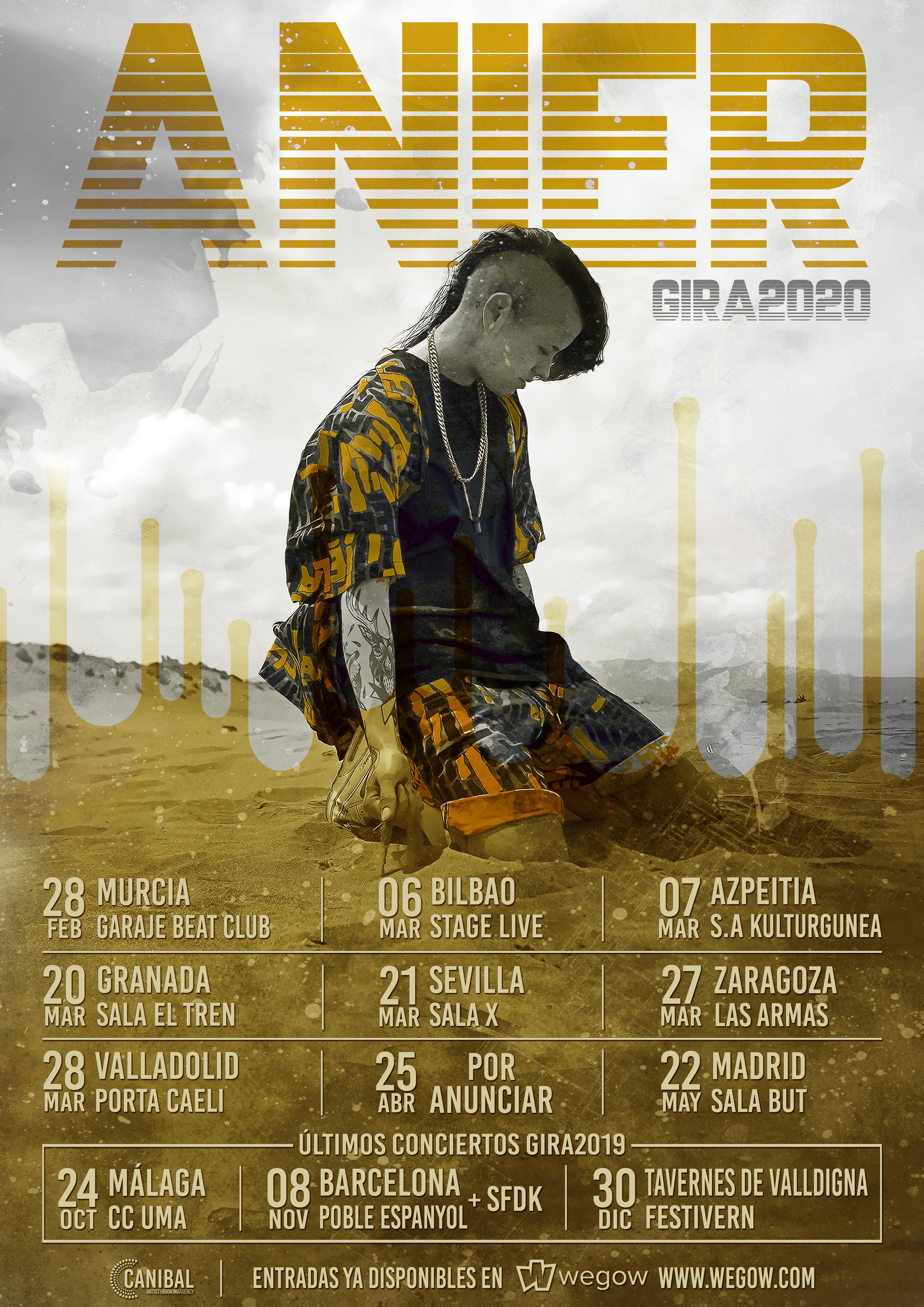 Disfruta de los conciertos de Anier, el futuro del rap español