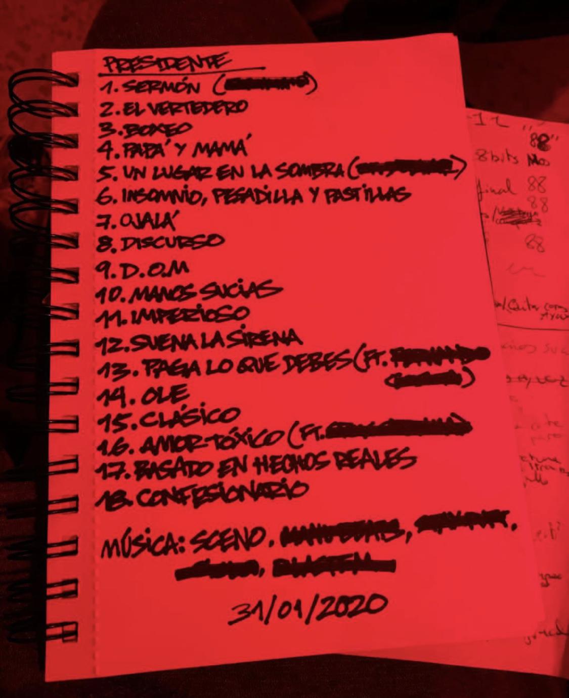 Foyone lanza el Tracklist de su nuevo disco «Presidente»
