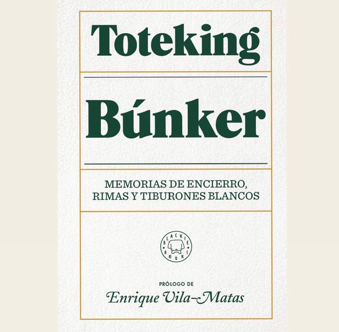Fecha de lanzamiento de Búnker, el libro de Tote King