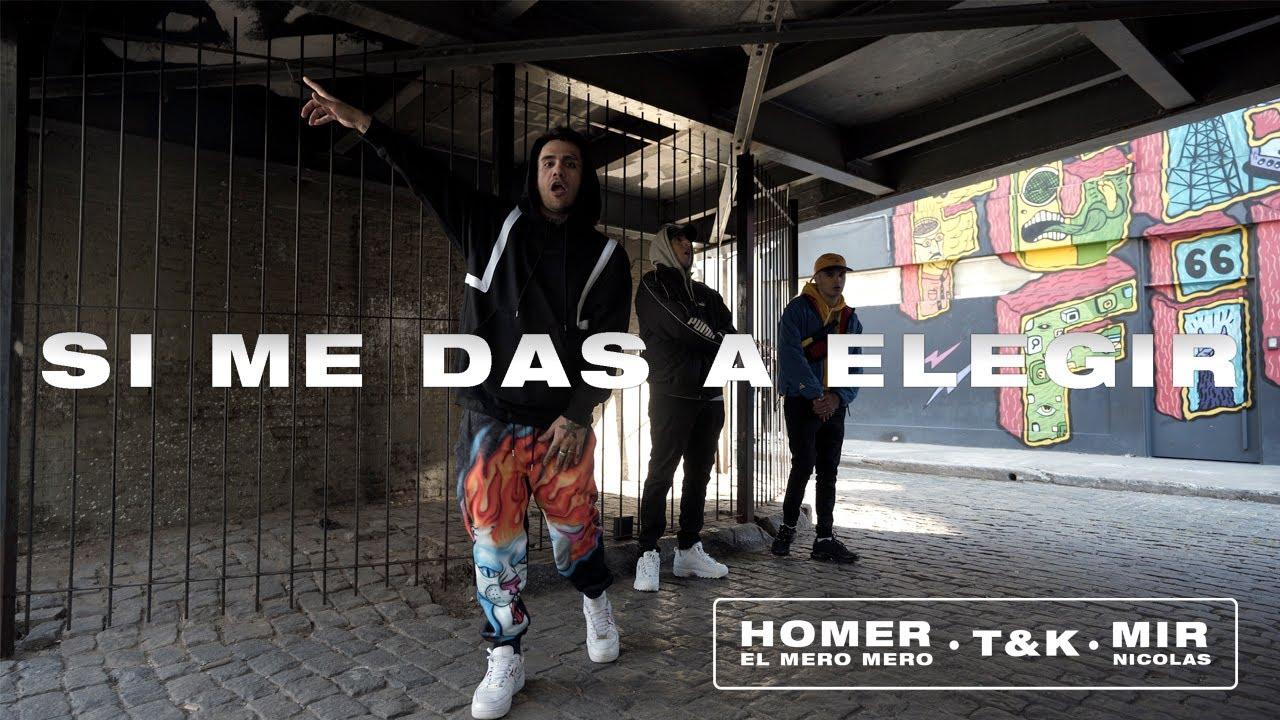 HOMER EL MERO MERO con la colabo de T&K y Mir Nicolas lanza «Si Me Das A Elegir»