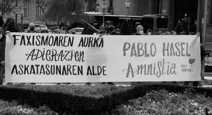 Una mujer pierde un ojo en una de las manifestaciones a favor de Pablo Hasel